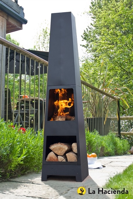 Malmo Chimenea with log store 2